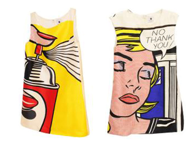 Lisa Perry debuts Lichtenstein-inspired dresses