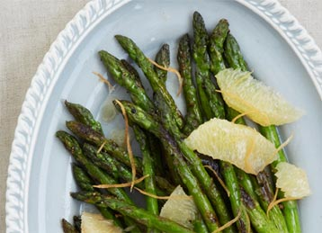 Skillet Asparagus with Grapefruit