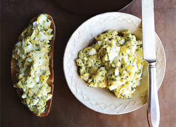 Egg Salad with Tarragon, Parsley and Chives