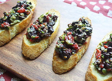 Bruschetta with Olive Rosemary Tapenade