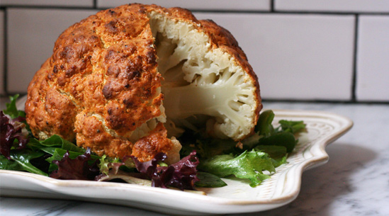 Spicy Whole Roasted Cauliflower | Recipes - PureWow