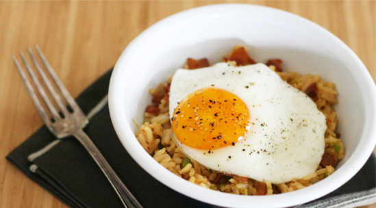 Bacon and Egg Fried Rice | Recipes - PureWow