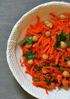 Spicy Carrot Salad with Chickpeas and Parsley | Recipes - PureWow