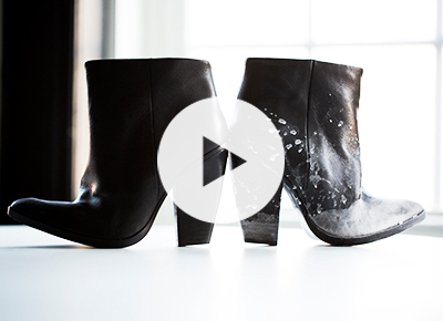 Remove the salt from your winter boots
