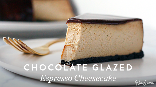 Chocolate Glazed Espresso Cheesecake | Recipes - PureWow